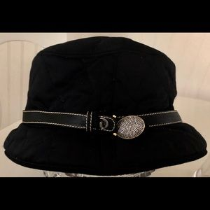 Authentic Coach -Women's Black Quilted Bucket Hat